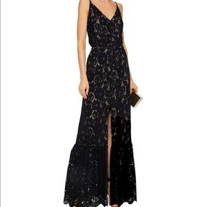 Lanvin Lace Buttoned Maxi Dress / Gown